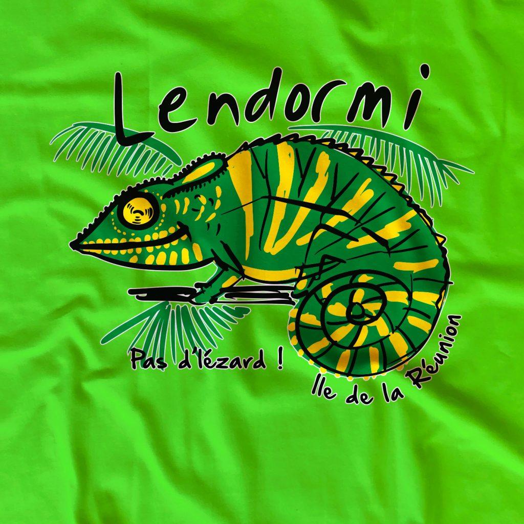 T-shirt Caméléon de la Réunion